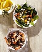 Insalata di catalogna e insalata di mare (Two salads)