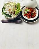 Contorno di finocchio e pomodori al balsamico (Two side salads)
