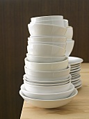 Piles of crockery