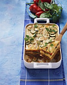 Pastitsio (Macaroni, mince and courgette bake, Greece)