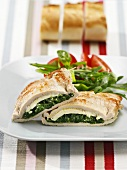 Pork Cordon Bleu with spinach & sheep's cheese stuffing
