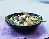 Bechamelkartoffeln mit Schinken und Gemüse