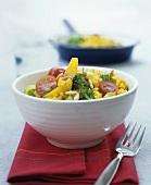 Vegetable & bulgur wheat stir-fry with coconut milk & curry