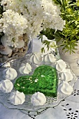 Heart-shaped woodruff jelly