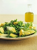 Pea and avocado salad with mint