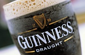 Guinness in a pint glass (close-up)