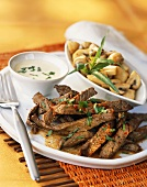 Strips of beef with tarragon