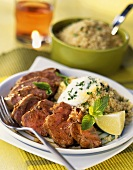 Marinated lamb fillet with couscous