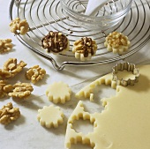 Making marzipan walnut sweets