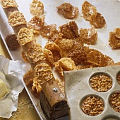 Making almond praline biscuits