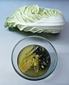 Fresh and pickled Chinese cabbage