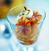 Blood orange salad with creamy yoghurt