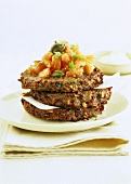 Courgette and feta burgers