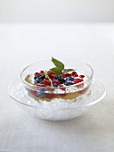 Gingered fresh berry compote
