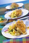 Kukul Mas Hodi - marinated chicken, Indian style
