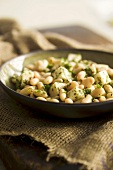 White bean and cheese salad with herbs
