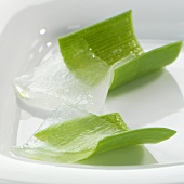 Aloe vera leaves (outer leaf rind and Aloe vera gel)