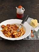 Penne arrabiata (Pasta in spicy sauce)