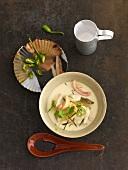 Tom Ka Gai (Thai chicken and coconut milk soup)