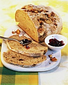 Macadamia bread, home baked
