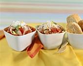 Radish and tuna salad with white bread