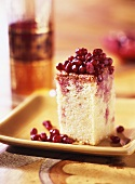 Pomegranate cake with maple syrup