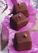 Chocolates with pink pepper