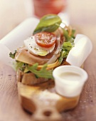 Vitamin sandwich - with rocket and mozzarella