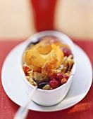 Grilled muesli with fresh fruit