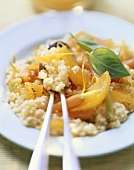 Couscous with carrots and oranges