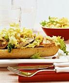 Turkey escalope in baguette