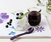 Sweet quark with blueberry sauce