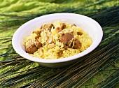 Malabar Mutton Biryani (rice with mutton, India)