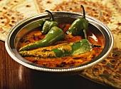 Mirch Ka Salan (green pepper in spicy sauce, India)