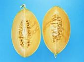 Honeydew melon, cut into quarters