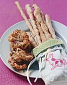 Crisp cookies and nut sticks