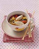 Vegetable stew with quark dumplings