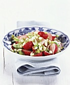Radish salad with sprouted seeds