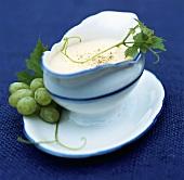 Schiumetta al vino bianco (zabaglione sauce), Piedmont, Italy