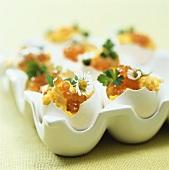 Rührei mit Kaviar