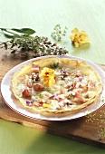 Blütenpizza
