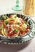 Spaghetti al pomodoro (Spaghetti mit Tomaten & Basilikum)