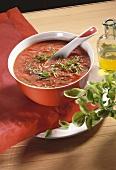Zuppa di pomodoro alla nizzarda (tomato soup, Italy)