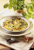 Saffron risotto with courgettes