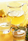 Herb punch with lemon