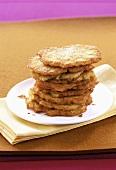 A pile of potato pancakes
