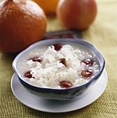 Rice porridge with Tremella and hawthorn