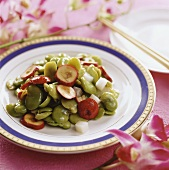 Broad beans with hawthorn and yam