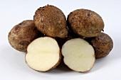 Several potatoes, variety 'Reichskanzler'