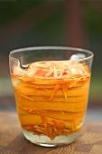Marigold liqueur with orange slices